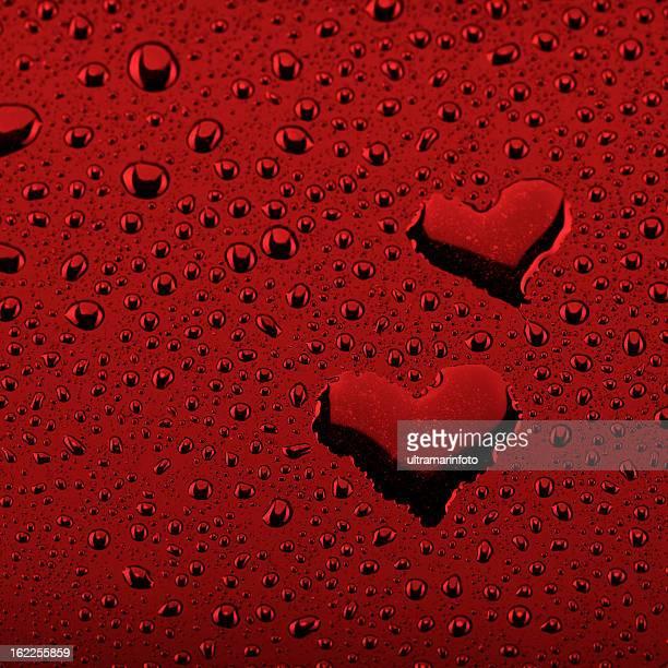 fundo de gotas de água-símbolo do coração - heart background imagens e fotografias de stock