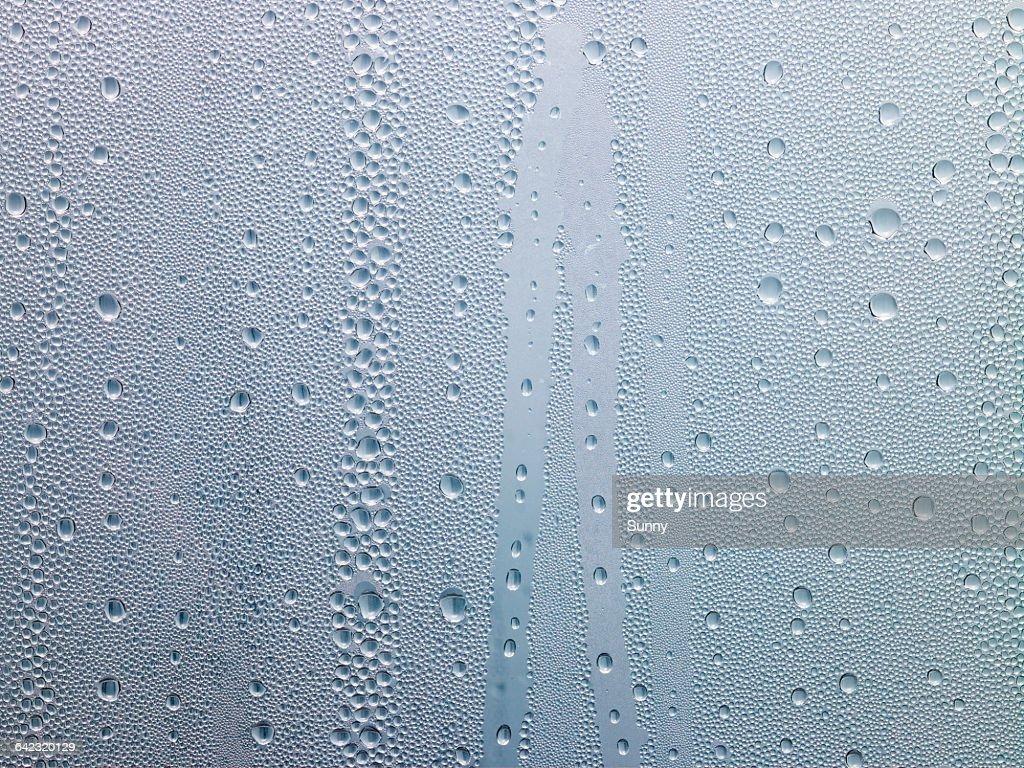 water drops, dew on window : Stock-Foto