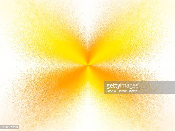 Water drops of orange color in the shape of star on a white bottom