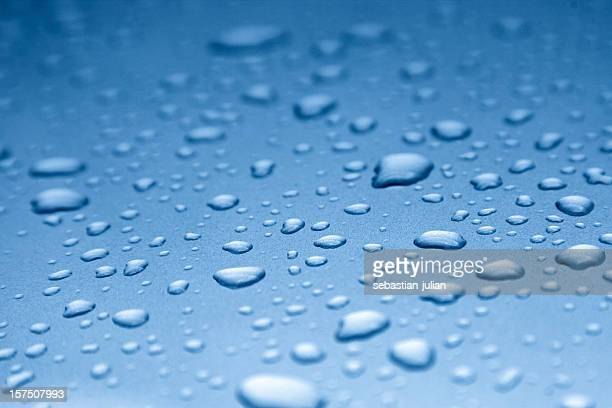 water drops on smooth surface