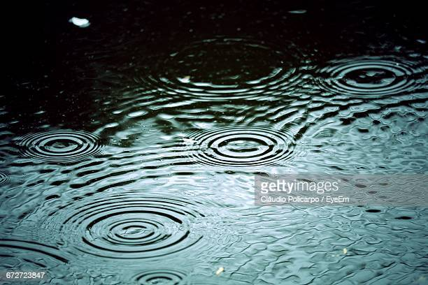 Water Drops On Water Surface