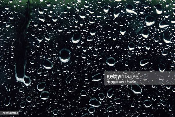 Water Drops On Window Glass