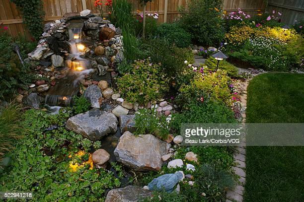 Water feature in garden