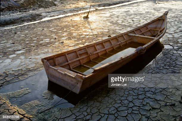 Water filled rowboat