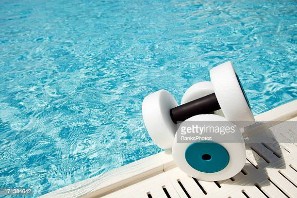Water Fitness Hand Buoys at Pool Edge