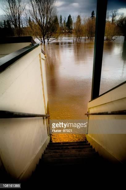 Wasser Überschwemmungen in Park