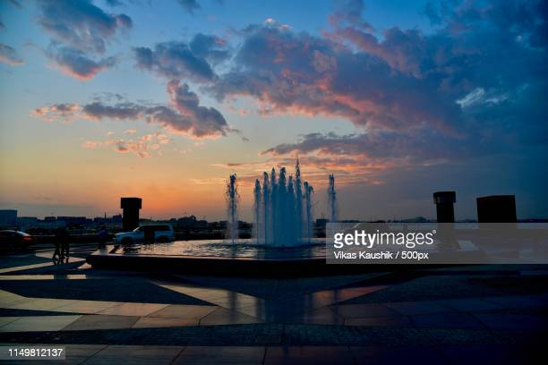 water fountain - doha stock pictures, royalty-free photos & images