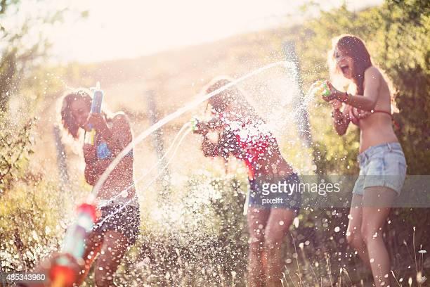 Agua diversión en el verano