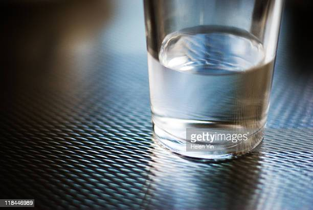 water glass - half full stock photos and pictures
