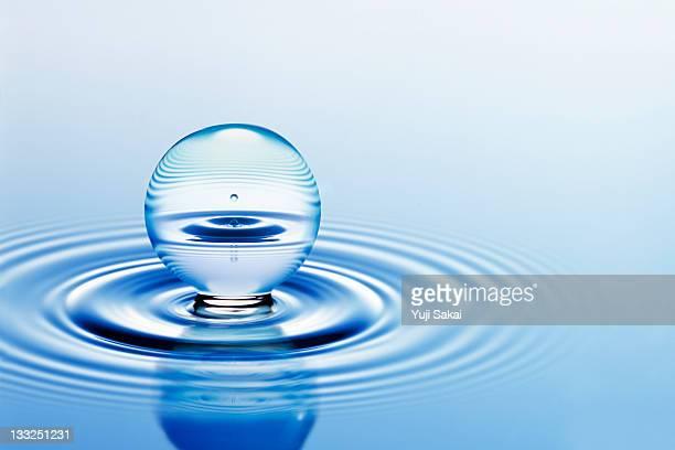 water globe on water