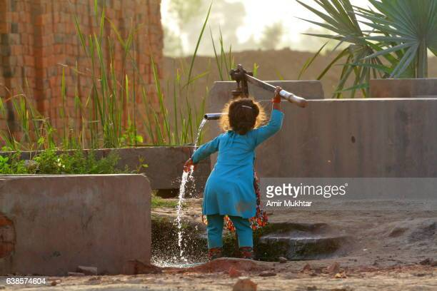 water hand pump - punjab pakistan stock photos and pictures
