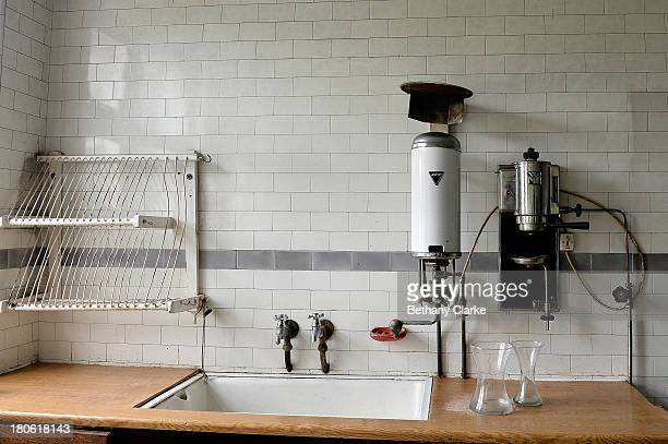 A water heater and coffee grinder in one of the kitchens in Pineheath house on September 4 2013 in Harrogate England The untouched 40bedroom house...