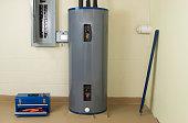 Water heater inside a building