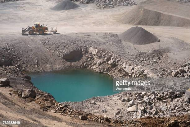 water hole at a quarry - billabong water stock photos and pictures
