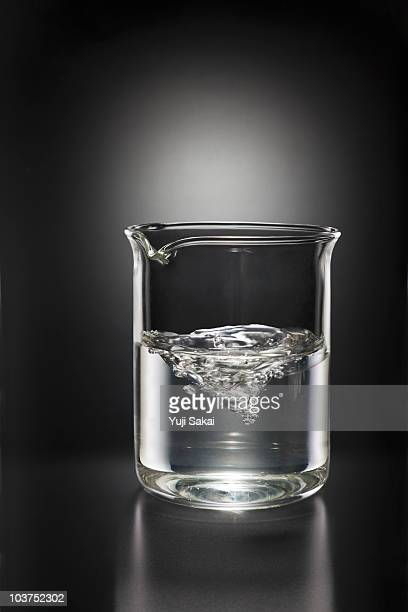 water in beaker