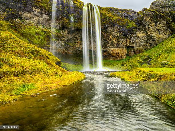 water in nature landscape - selfoss stock photos and pictures