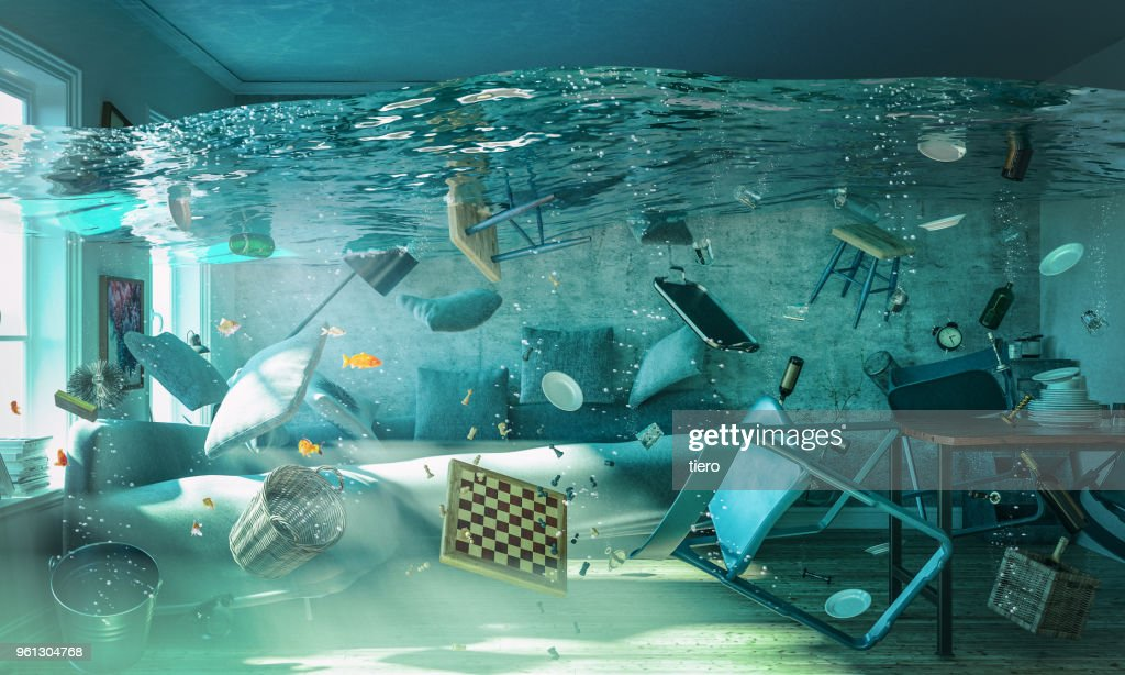 water in the house : Stock Photo
