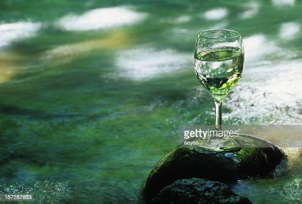 Water in the wineglass