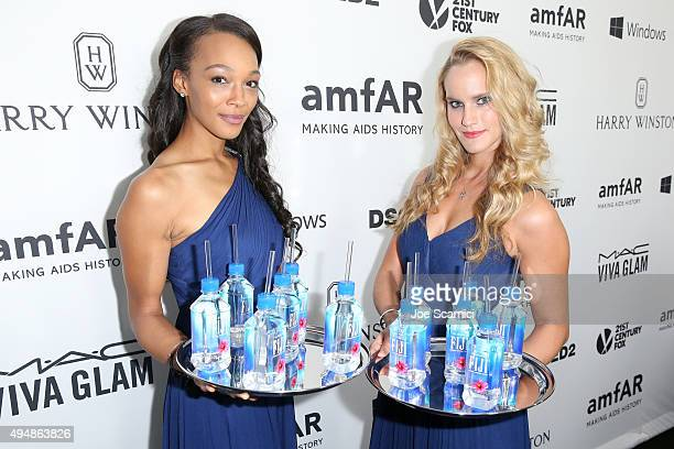Water is served at amfAR's Inspiration Gala Los Angeles at Milk Studios on October 29 2015 in Hollywood California