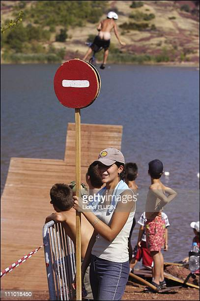 Water Jump at Lake of Salagou in France on July 20th 2004
