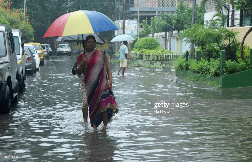 Streets Flooded In Kolkata