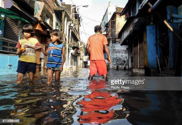 A water logged street after the rains Monsoon season in kolkata lasts from mid March to end of September and during these period the city transforms...