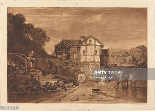 Water Mill, published 1812. Artist JMW Turner.