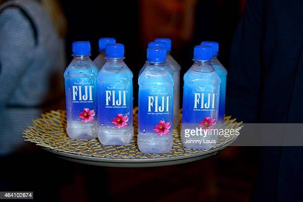 Water on display at Chicken Coupe hosted by Andrew Carmellini during the 2015 Food Network Cooking Channel South Beach Wine Food Festival presented...