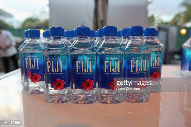 FIJI water on display at the Amstel Light Burger Bash presented by Schweid Sons hosted by Rachael Ray during the 2015 Food Network Cooking Channel...