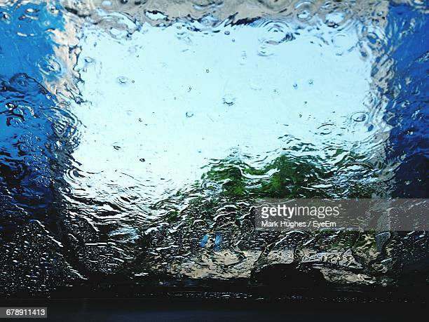 Water On Windshield During Car Wash
