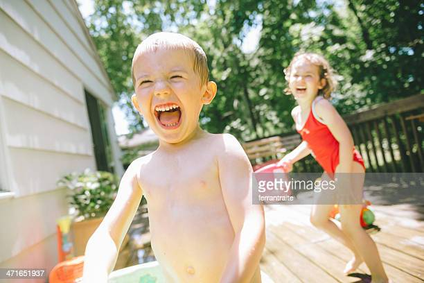 water play - deck stock pictures, royalty-free photos & images