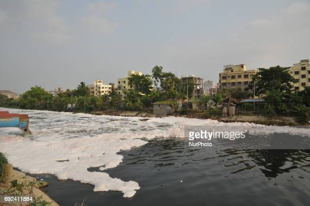 Water pollution at the a city canal during the observe WORLD ENVIRONMENT DAY on June 05 2017 in Kolkata India