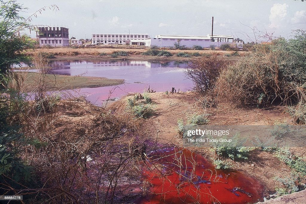 Water Pollution by Textile Industry in Tirupur ( Pollution, Profile ) : News Photo