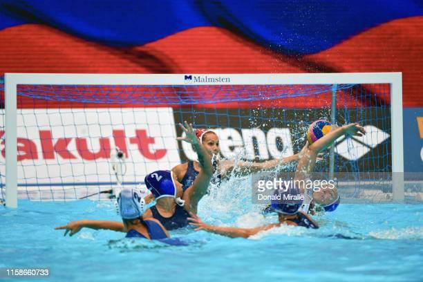 18th FINA World Aquatics Championship Netherlands in action vs Italy during Women's Semifinal at Nambu University Stadium Gwangju South Korea...