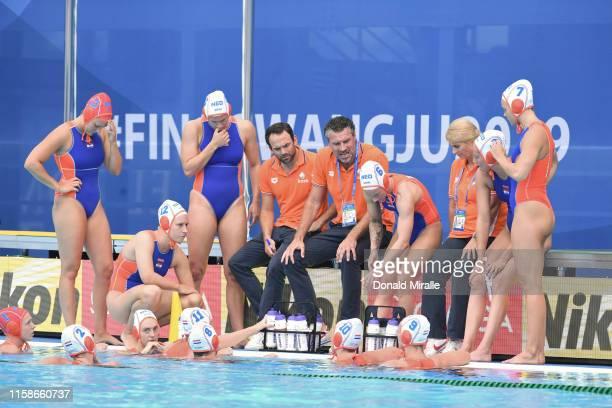 18th FINA World Aquatics Championship Netherlands team during Women's Classification 58 game vs Italy at Nambu University Stadium Gwangju South Korea...