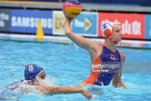 FINA World Aquatics Championship Italy in action vs Netherlands during Women's Classification 58 at Nambu University Stadium Gwangju South Korea...