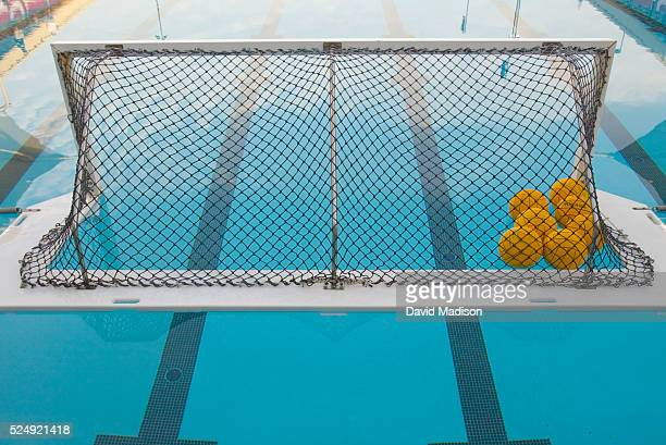 A water polo goal during a break in the action at the US Cup Water Polo tournament held at Stanford California from May 1519 2003