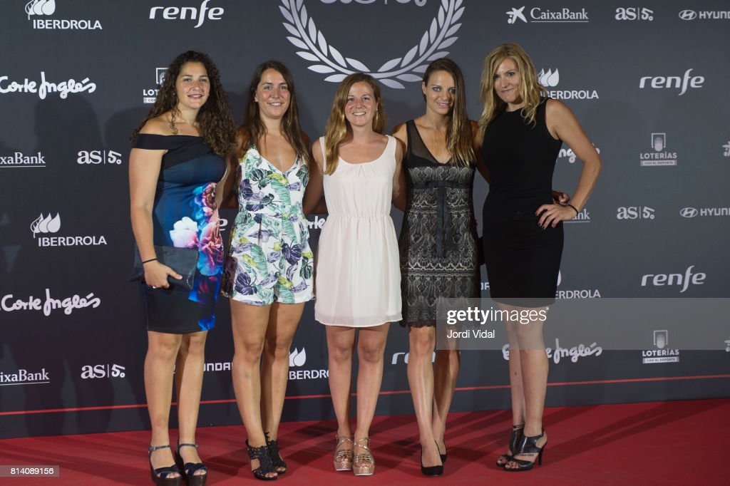 Water polo medalists attend the photocall during the Homage to Spanish Olympic Medalists at Museu Nacional d'Art de Catalunya on July 13, 2017 in Barcelona, Spain.