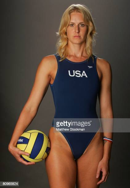 Water polo player Betsey Armstrong poses for a portrait during the 2008 US Olympic Team Media Summitt at the Palmer House Hilton on April 14 2008 in...