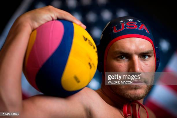Water Polo player John Mann poses for a portrait at the 2016 Team USA Media Summit March 9 2016 in Beverly Hills California The 2016 Summer Olympics...