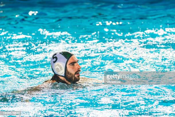 water polo player swimming - shooting at goal stock pictures, royalty-free photos & images