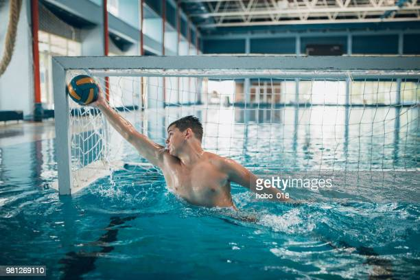 Water polo practicing