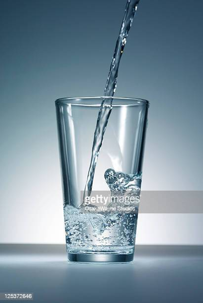 Water pour into glass