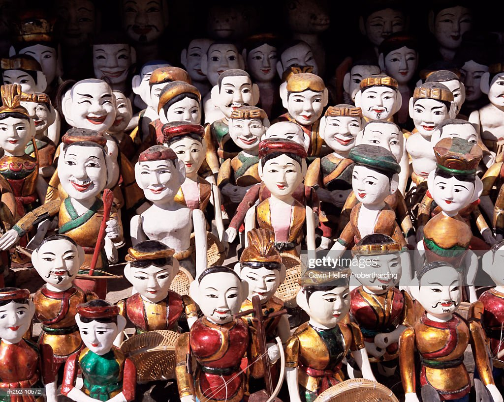 Water puppets, Hanoi, Vietnam, Indochina, Southeast Asia, Asia : Foto de stock
