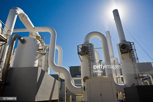 Water Purification Plant Under Sun and Blue Sky