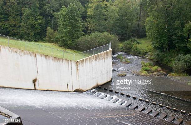 Water Release At Unicoi Lake Dam In Unicoi State Park Georgia USA
