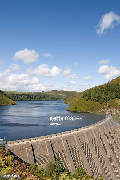 water reservoir on river severn, wales - reservoir stock pictures, royalty-free photos & images