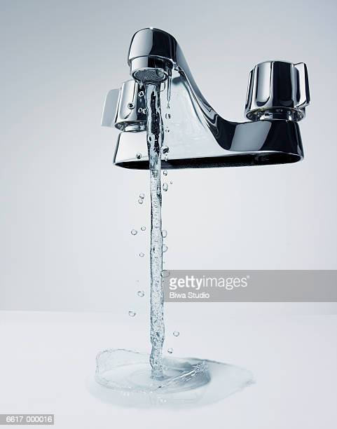 Water Running from Faucet