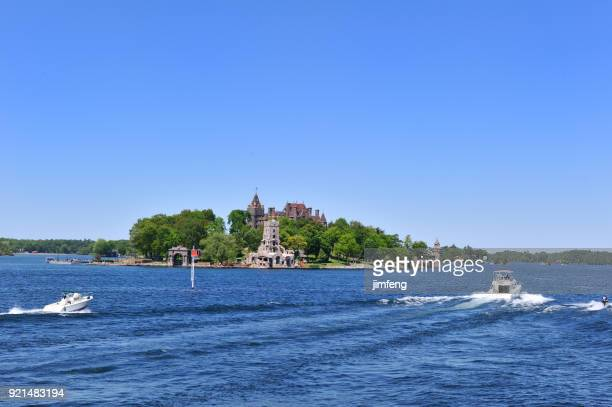 water scooter at 1000 islands - river st lawrence stock pictures, royalty-free photos & images