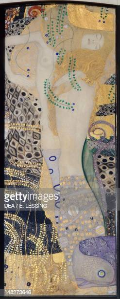 Water serpents I 19041907 by Gustav Klimt mixed media and gold on parchment 50x20 cm Vienna Österreichischer Galerie Belvedere